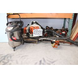 chain saw, mechanical sweeper, grass trimmers, backpack blower, Selling Offsite: Located in Alexande