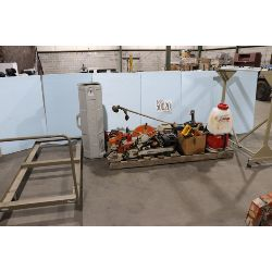 chain saws, grass trimmers, drill, centrifugal pump, cut-off saw, Selling Offsite: Located in Tuscal