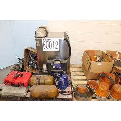 lights, vacuum pumps, levels, battery charger, ice machine, impact wrenches, Selling Offsite: Locate