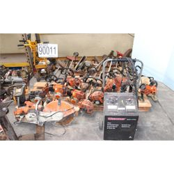 grass trimmers, hyd jacks, binders, drill press, band saw, pneumatic cylinder, battery charger, hois