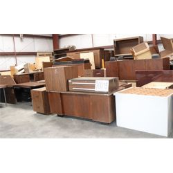 bookcases, desks, credenza, cabinets, tables, Selling Offsite: Located in Mobile, AL