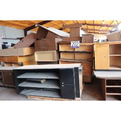 desks, credenzas, bookcases, cabinets, tables, Selling Offsite: Located in Montgomery, AL