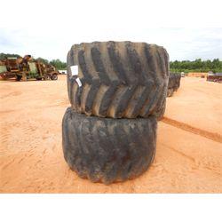 (2) Log skidder tires & rims (A-4)