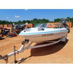 fiberglass boat, s/a trailer, inboard/outboard engine
