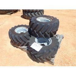 (4) 26X12.00X12 tires & rims NHS (C7)