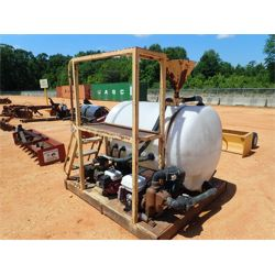 Directional Bore Mud Mixing System w/ 2 Honda motors, 500 gallon sprayer system, skid mtd (C3)