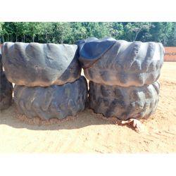 (4) log skidder tires