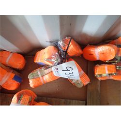 """(4) 2"""" x 27' ratchet tie down strap (in container)"""