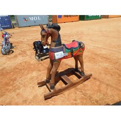 5' teak wood rocking horse (C6)