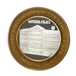 .999 Fine Silver Imperial Palace Las Vegas, Nevada $10 Limited Edition Gaming Token