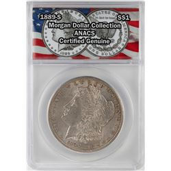 1889-S $1 Morgan Silver Dollar Coin ANACS Certified Genuine