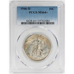 1946-D Walking Liberty Half Dollar Coin PCGS MS64+
