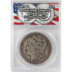 1896-S $1 Morgan Silver Dollar Coin ANACS Certified Genuine