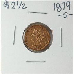 1879-S $2 1/2 Liberty Head Quarter Eagle Gold Coin