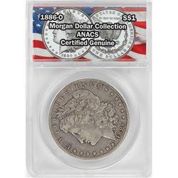 1886-O $1 Morgan Silver Dollar Coin ANACS Certified Genuine