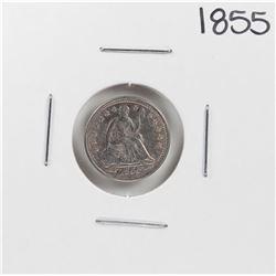 1855 Arrows Seated Liberty Half Dime Coin