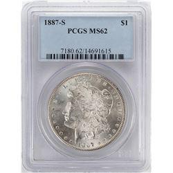 1887-S $1 Morgan Silver Dollar Coin PCGS MS62