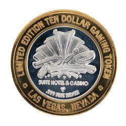 .999 Silver Rio Suite Hotel Las Vegas  $10 Casino Limited Edition Gaming Token