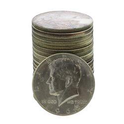 Roll of (20) Brilliant Uncirculated 1965 Kennedy Half Dollar Coins