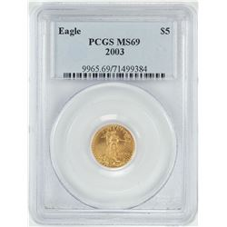 2003 $5 American Gold Eagle Coin PCGS MS69