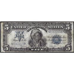 1899 $5 Indian Chief Silver Certificate Note