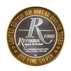 .999 Silver Riviera Hotel & Casino Las Vegas $10 Casino Limited Edition Gaming Token
