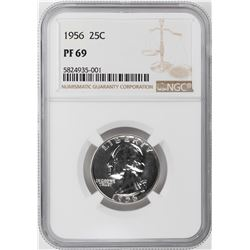 1956 Proof Washington Quarter Coin NGC PF69