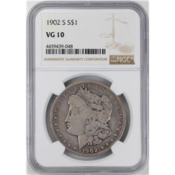 1902-S $1 Morgan Silver Dollar Coin NGC VG10