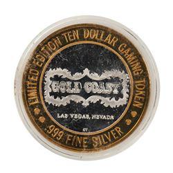 .999 Fine Silver Gold Coast Las Vegas, Nevada $10 Casino Limited Edition Gaming Token