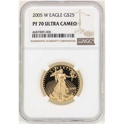 2005-W $25 American Gold Eagle Coin NGC PF70 Ultra Cameo