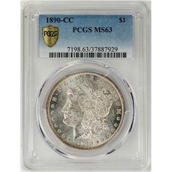 1890-CC $1 Morgan Silver Dollar Coin PCGS MS63