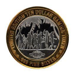 .999 Silver Tropicana Las Vegas, Nevada $10 Casino Limited Edition Gaming Token