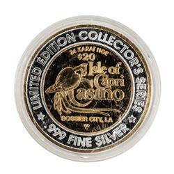 .999 Fine Silver Isle of Capri Casino Louisiana $20 Limited Edition Gaming Token