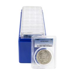 Lot of (20) 1882 $1 Morgan Silver Dollar Coins PCGS MS63
