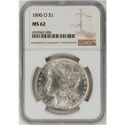 1890-O $1 Morgan Silver Dollar Coin NGC MS62