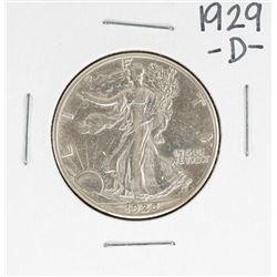 1929-D Walking Liberty Half Dollar Coin