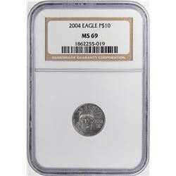 2004 $10 Platinum American Eagle Coin NGC MS69