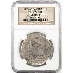 1777MO FF Mexico 8 Reales El Cazador Shipwreck Coin NGC Genuine