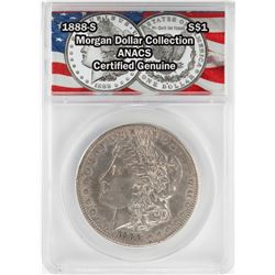 1888-S $1 Morgan Silver Dollar Coin ANACS Certified Genuine