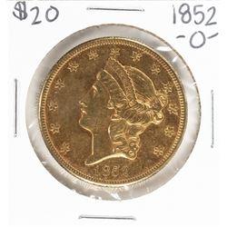 1852-O $20 Liberty Head Double Eagle Gold Coin