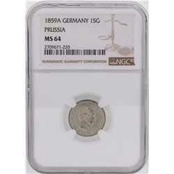 1859A Germany 1 Silber Groschen Prussia Coin NGC MS64