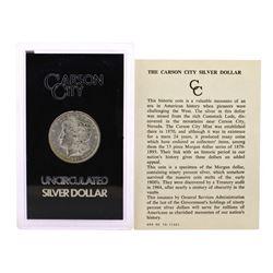 1891-CC $1 Morgan Silver Dollar Coin Uncirculated GSA Hoard