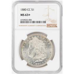 1880-CC $1 Morgan Silver Dollar Coin NGC MS63+