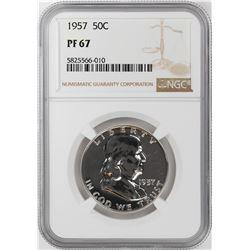 1957 Proof Franklin Half Dollar Coin NGC PF67