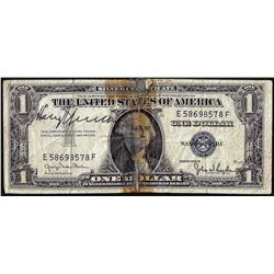 1935D $1 Silver Certificate Note with Harry Truman Signature
