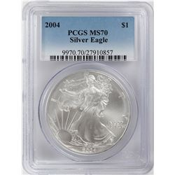 2004 $1 American Silver Eagle Coin PCGS MS70