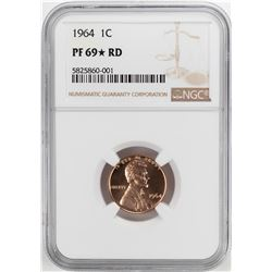 1964 Proof Lincoln Memorial Cent Coin NGC PF69RD Star