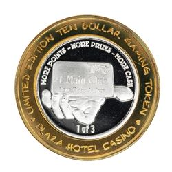.999 Silver Plaza Hotel & Casino Nevada $10 Gaming Token Limited Edition