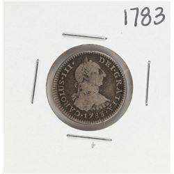 1783 Spanish Real Silver Coin
