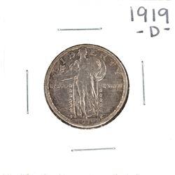 1919-D Standing Liberty Quarter Coin